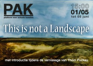 uitnodigings kaart 'This is not a Landscape' PAK